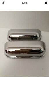 Pack of 2 Chrome Curved Cup drawers Handles - Small 97 mm, 64 mm centre
