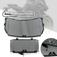 Black Engine Radiator Grill Grille Protector Guard Cover fit YAMAHA MT10 16-17