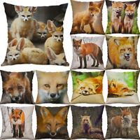 """18"""" decor sofa pillow case waist Pattern Fox cushion Home cover"""