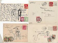 * 1908/31 2 COVERS & 2 CARDS TO/FROM SWITZERLAND WITH POSTAGE DUES & TAXE MARKS