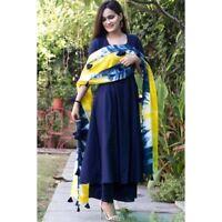 Indian kurta dress With dupatta palazzo Flared Top Tunic Set blouse Combo  -na27