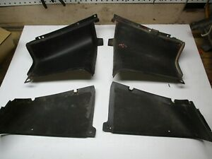1967 1968  Mustang fastback fold down seat rear panels 4 pc