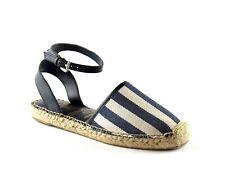 Sam Edelman Vivian Navy White Stripe Ankle Strap Espadrille Sandal NEW Size 8