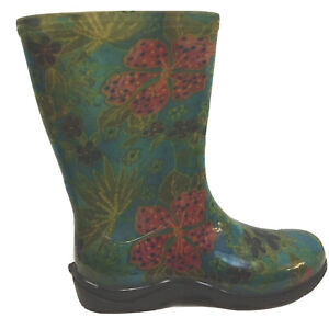 Sloggers Size 8 Womens Garden Boot Multicolor Floral Rubber MidCalf Rain Barn