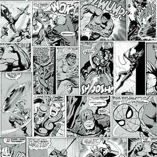 Marvel Comic Strip Wallpaper Black and White Muriva 159502 Captain America
