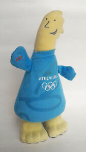 Athens 2004 Olympics Official Mascot Phevos Plush Standing Figure W Sounds Move