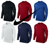 Nike Boys Kids Long Sleeve Shirts Park VII Sports Football Training Tops TShirt