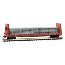 N Micro Trains 054 00 260 ICG Illinois C Gulf  61' Bulkhead Flat Car w/loads