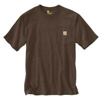 NEW! Carhartt K87 Short Sleeve Workwear Pocket T-Shirt DARK COFFEE size MEDIUM