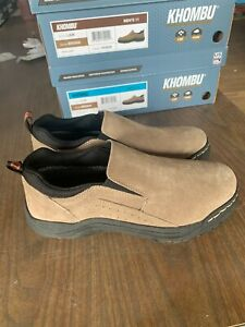 NEW Khombu Men's Liam Suede Slip On Water Resistant Shoes Brown Pick Size