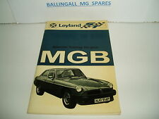 """MG MGB  & 'GT' ORIGINAL RB  1976 """" SPECIAL TUNING GUIDE """"  NEW OLD STOCK"""