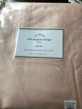 "Pottery Barn Silk Dupioni Drape Curtain Panel 104"" x84"" Pedal Pink NIP"