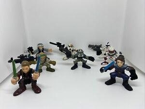 STAR WARS GALACTIC HEROES FIGURE LOT Of 8, See Photos. Awesome !