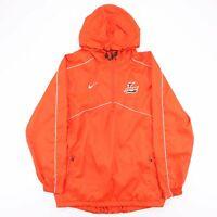 NIKE Orange 1/4 Zip Hooded Sports Pullover Shell Jacket Men's Size Medium