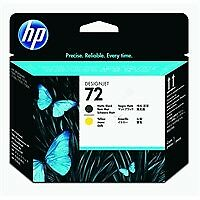 Genuine HP No 72 C9384A Matte Black & Yellow Printhead