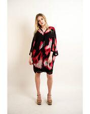Lady leopard floral chiffon print maxi oversize top midi dress black grey pink