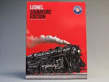 LIONEL 2010 SIGNATURE EDITION VOLUME 1 TRAIN CATALOG book manual advertisement