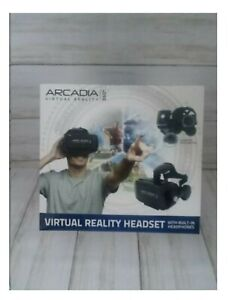 Arcadia Virtual Reality 360 Headset with built-in headphone BRAND NEW