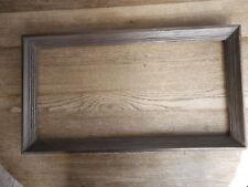 "Picture Frame Dark Wood inside dim. apx 24 x 12"" Shabby Flea Market"