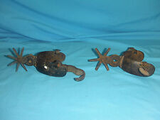 Set of Two (2) Antique Cowboy Cast Iron Boot Spurs