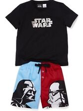 Peter Alexander Boys Size 3 Years Star Wars Darth Vader Stormy Summer Pyjamas