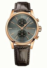 Hugo Boss HB1513281 JET 41mm Brown Leather Strap Men's Chronograph Watch