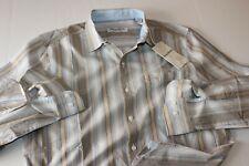 Tommy Bahama Shirt Uvita Stripe Golden Honey T320646 LS New Medium M