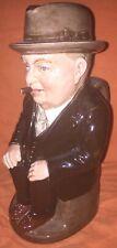 "Royal Doulton Toby Jug  CLIFF CORNELL DARK BROWN SUIT  CLEVELAND FLUX 9"" Large"