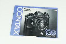 Contax 139 manuale di istruzioni libretto user manual Italiano