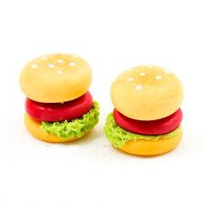 5PCS Beef Hamburger Fast Food Burger 11mm 1:12 Scale Miniature Dollhouse A1426