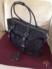 Beautiful And Rare Mulberry  Black Jacquard weave 'logo' Holdall Excellent