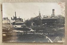 More details for union sulphur company docks louisiana usa real photographic postcard
