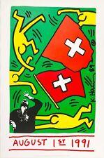 Keith Haring : August 1 1991 (Switzerland 700 years Original screen-print 1991