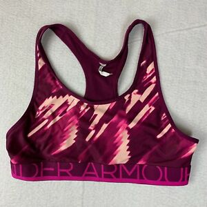Under Armour Sports Bra Youth Extra Heat Gear Fitted Large Multicolor Racerback