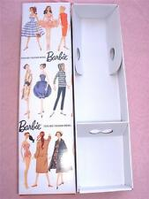 VINTAGE REPRO #1  BRUNETTE PONYTAIL BARBIE DOLL  FIRST REPRODUCTION FASHION  BOX