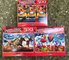Lot of 3, 500 Piece Jigsaw Puzzles *NEW* w/ Free Shipping