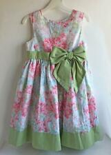 Toddler Girls Dress Perfectly Dressed Size 5T Pink/blue/green Floral Eyelet