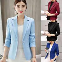 Autumn Ladies Women Long Sleeve Slim Work Business Suit Coat Jacket Blazer Coats