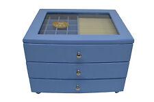 Piano Finish Wooden Fashion  Jewellery Box   - 175 baby blue
