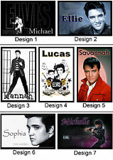 Personalised Elvis Presley Fridge Magnet - With Name or Msg  - Gift Idea - 7x5cm