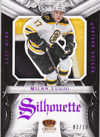 12-13 Crown Royale Milan Lucic /10 PATCH Silhouette Bruins Panini 2012