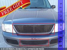 GTG 2002 - 2005 Ford Explorer 2PC Gloss Black Combo Billet Grille Insert Kit