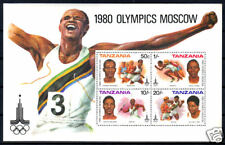 TANSANIA - Block 23 ** - Olympische Spiele 1980 !!!