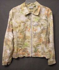 CHICOS womens plus size 1 LW graphic print zip-up JACKET VGUC s0056