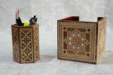traditional wood Desktop Items,Pens & Writing Equipment,Mosaic wood handmade