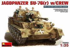 1/35 German Jagdpanzer SU-76(r) with Crew (5 Figures) MiniArt 35053 Models kits