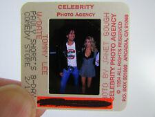 More details for original press photo slide negative - motley crue - tommy lee & bobbie brown - b