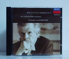CD Bruckner Symphony No.5 CLO Christoph von Dohnanyi Decca Digital 1993