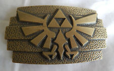 TRIFORCE LEGEND OF ZELDA TWILIGHT PRINCESS BELT BUCKLE NINTENDO DIE CAST METAL