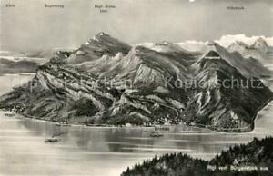 13332580 Rigi_Kulm Panorama Blick vom Buergenstock aus Vierwaldstaettersee Alpen